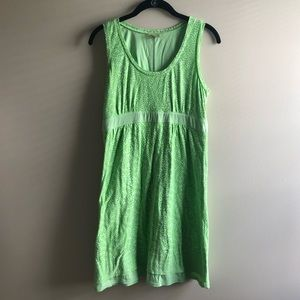 Athleta Lime Green Vyasa Dress Size M